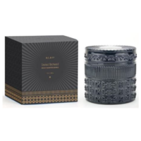 D.L. & Co. Studded Crystal Glass Candle - Black | Mountain Cedar and Birchwood