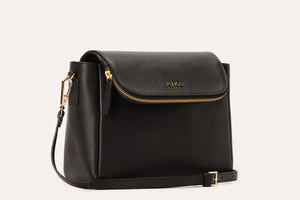 Kiko Leather Bag - The Fold Over | Black