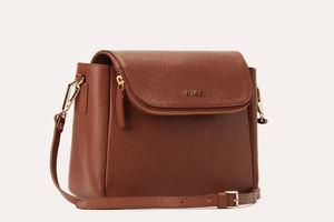 Kiko Leather Bag - The Fold Over | Brown