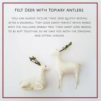 Felt Deer with Topiary Antlers