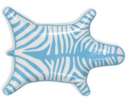 Jonathan Adler Light Blue Zebra Stacking Dish