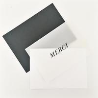 "Cloth & Paper ""Merci"" Greeting Card"
