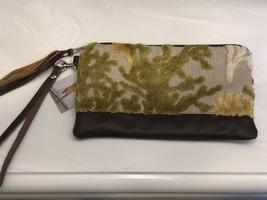 Midi Queen Fabric & Leather Clutch Purse
