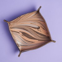 Tribe Alive Leather Marbled Valet Tray
