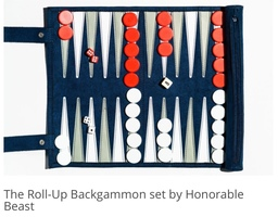 Roll-up Backgammon Set