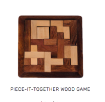 PIECE-IT-TOGETHER WOOD GAME / PUZZLE