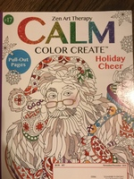 "Calm Color Create Adult Coloring Book Nov/Dec 2018 - ""Holiday Cheer"" Christmas themed coloring book"