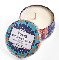 Kevia White Jasmine & Figwood Candle