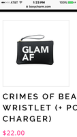 Crimes of Beauty Wristlet (+portable charger)