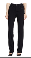Style & Co Tummy Control Straight Leg Jeans In Black - 22w