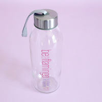 Be A Flamingo (in a flock of pigeons) Water Bottle