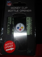 NFL Money Clip and Bottle Opener - STEELERS