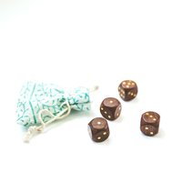 DICE WITH POUCH - SET OF 4