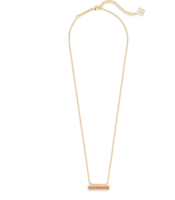 Kendra Scott Leanor Necklace in Gold and Sand Druzy