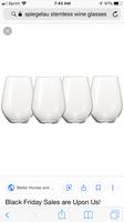 Spigelau Stemless Wine Glasses Set of 4