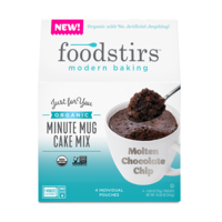 Foodstirs Molten Chocolate Chip Minute Mug Cake Mix
