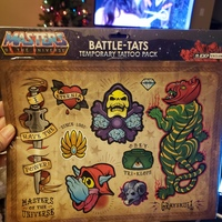 Masters of the Universe Battle-Tats Temporary Tattoo Pack