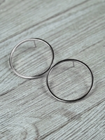 Jules Smith Hoop Earrings in Silver