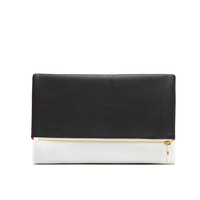 Lulu Dharma Black & White Reversible Clutch