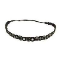 Deepa Gunani Hand Embroidered Black Headband