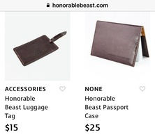 Honorable Beast Passport Case & Luggage Tag
