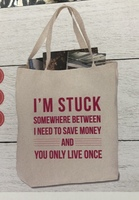 Save Money or YOLO Oversized Tote Bag