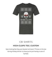 High-Clops T-shirt - cannabox ugly Christmas sweater marijuana leaf shirt