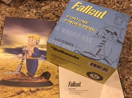 Fallout Fortune Finder Perk Figure - Loot Crate Exclusive