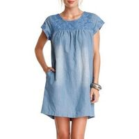 Ellison Embroidered Denim Dress