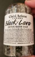 Black lava detox bath salt
