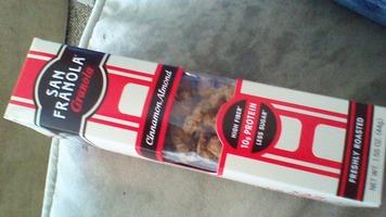 san franola granola cinnamon almond high fiber protein freshly roasted 1.55 oz box