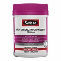 Swisse Ultiboost High Strength Cranberry Capsules, 100 Count, Supports Urinary Tract Health, Contains Antioxidants