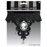 Skeleton Cameo Choker
