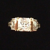 Alta Vintage princess cut ring
