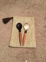 Mini horn spoons