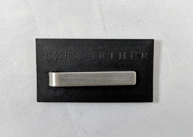 Ezra Arthur stainless steel tie bar - 1.5in