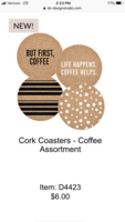 Sips Coasters- Coffee Assortment