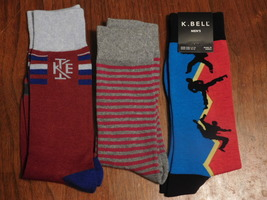 Solid, Striped, and Karate socks