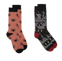 Christmas and Halloween themed dress socks