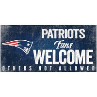"NFL New England Patriots 6"" x 12"" Fans Welcome Sign"