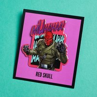 Red Skull pin