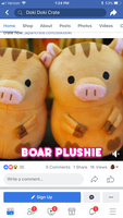 Boar plush