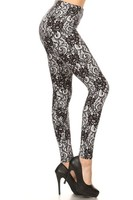 Laced Floral Leggings