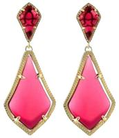 Kendra Scott Alexa Earrings in Gold/Berry Glass