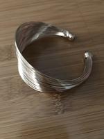 Gold-tone multi-strand adjustable bracelet