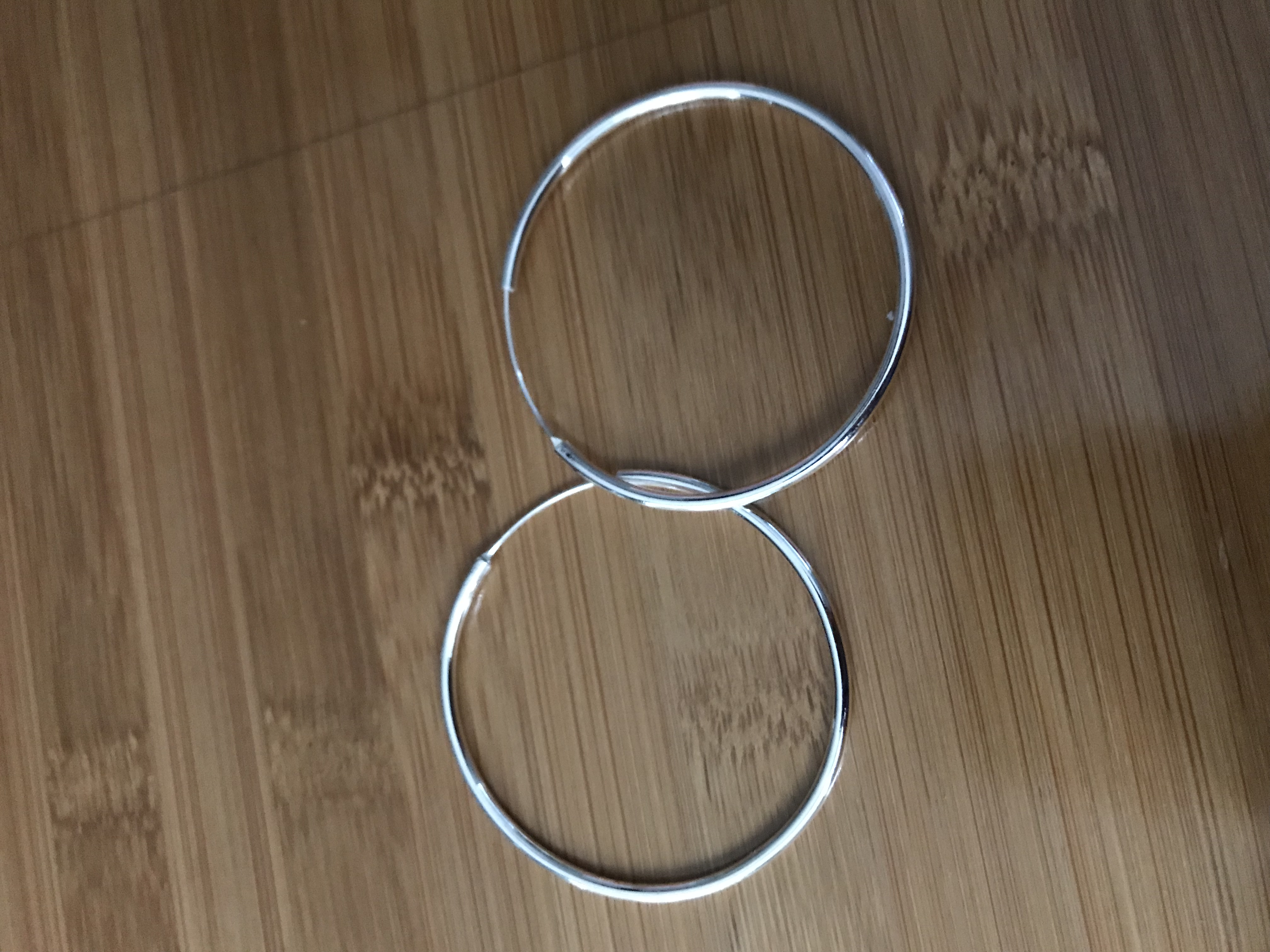 Silver-tone Hoop Earrings