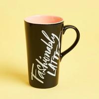 "Hallmark Ceramic Latte Mug ""Fashionably Latte"""