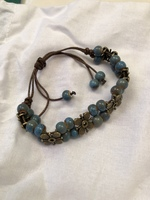 Turquoise Beaded Bracelet - Adjustable