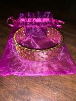 Gold Scale Cuff Bracelet
