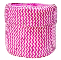 Palm Leaf Pink Tigre Basket